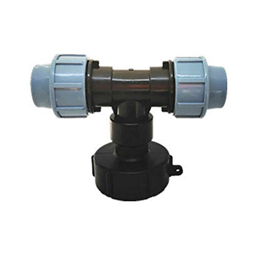 25mm Tee Pipe Adaptor T-Fitting MDPE Male Female Plumbing Stopcock Wall Water System