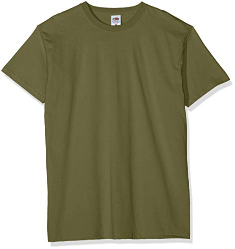 Fruit of the Loom Valueweight 5 Pack T-Shirt, Verde (Classic Olive 59), Large (Pacco da 5) Uomo