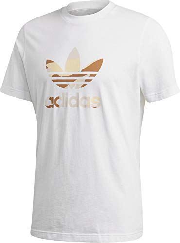 adidas Herren CAMO INFILL Tee T-Shirt, White/Multicolor, M