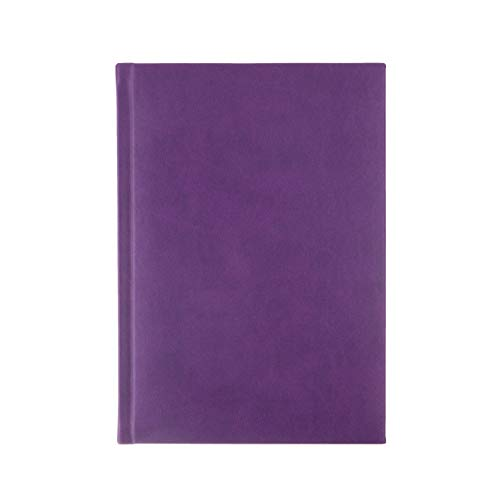 SYMPHONY Ruled, Padded Executive Hardcover Notebook Journal with Premium Paper, 256 Lined Pages, With Book Mark Ribbons, Lined Pages, Purple Cover, Size 5.75' x 8.25'
