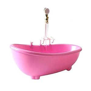 Toyvian Rociador de Agua eléctrico en la Piscina de la bañera con rociador sin batería para muñeca (Rosa)