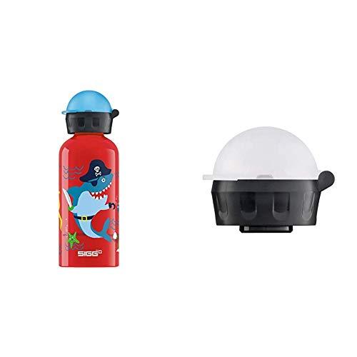 Sigg Kinder Trinkflasche SIGG Underwater Pirates, Kinder Trinkflasche, 0.4 L, Auslaufsicher, BPA Frei, Rot, Mehrfarbig & Kinder Trinkverschluss KBT Complete Carded Trinkflasche, Transparent, one Size