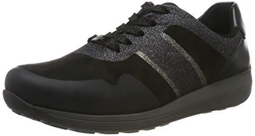 ARA Damen Osaka 1234589 Sneaker, Schwarz (Schwarz, Iron 08), 38 EU