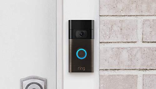 El nuevo Video Doorbell Ring totalmente renovado– video HD 1080p, detección de movimiento mejorada, instalación sencilla – Bronce Veneciano (Edición 2020)