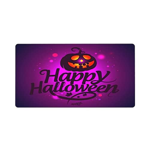 Alfombrilla de ratón para Juegos 30X80CM,Tarjeta de Feliz Halloween con Calabaza,Base de Goma Antideslizante,Adecuada para Jugadores,PC y portátiles
