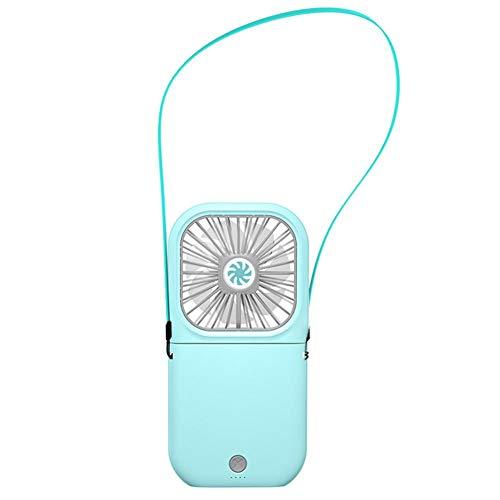 Rayber Ventilador de mesa portátil azul plegable cuello de plástico eléctrico USB ventilador para escritorio hogar oficina habitación al aire libre