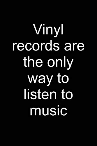 I Only Listen to Vinyl: Notebook for Vinyl Collector Vinyl Collector Vinyl Lover Vinyl Record Player 6x9 in Dotted