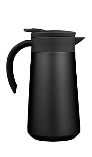 BOHORIA® Isolierkanne | Thermoskanne |Kanne für Kaffee, Tee & Wasser |Edelstahl | Quick Tip Verschluss | 0,8 Liter (Black)