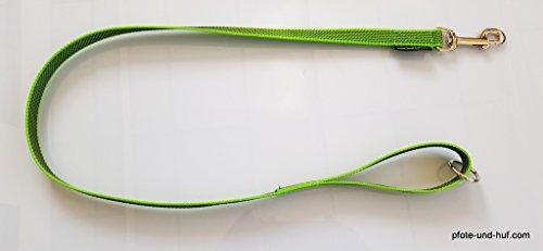 elropet Gummierte Hundeleine 1m mit Handschlaufe u. Ring neongrün