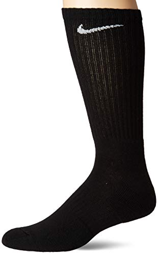 NIKE Everyday Cushioned Calcetines, Unisex Adulto, Negro, L