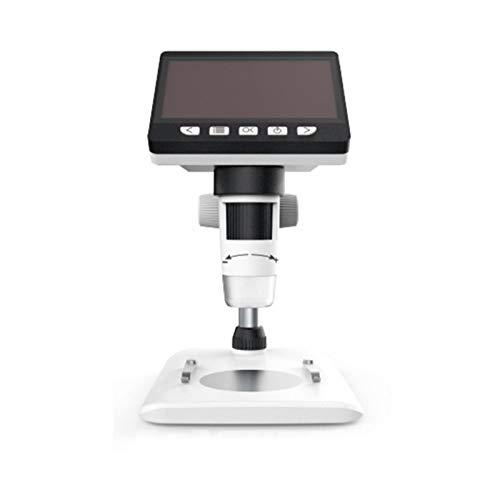 lembrd LCD Digital Mikroskop Lupe, 4,3 Zoll 1080P HD Digital Microscope Kamera Video Recorder 50X-1000X Vergrößerung Zoom Endoskop mit 8 LED Lampen für Windows PC