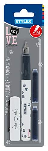 Stylex 33037 Design Patronenfüllhalter mit 2 Tintenpatronen, Mehrfarbig