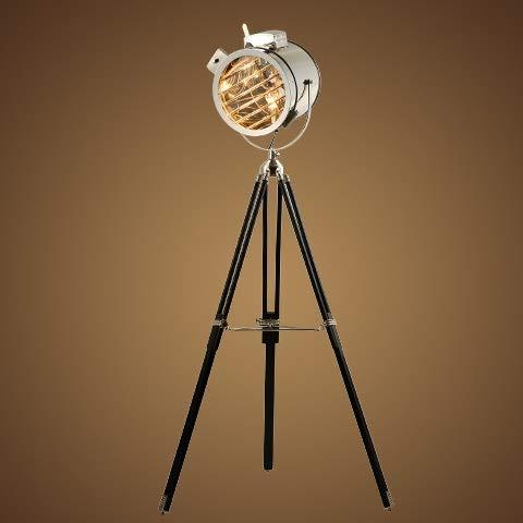 BINGFANG-W Moderno Europeo suave de la vendimia del viento Industrial Estudio Reflector etapa creativa del acero inoxidable de la antigüedad Altura ajustable del trípode de la lámpara LED