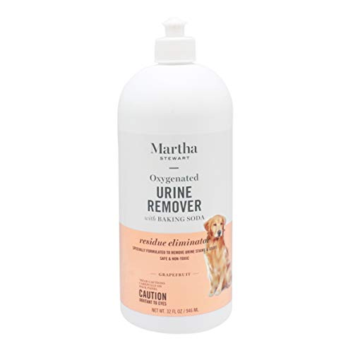 Martha Stewart for Pets Oxy-Powered Urine Remover for Pet Stains | Effective Pet Urine Odor Eliminator and Carpet Cleaner, Fresh Citrus Grapefruit Scent, 32 Ounces