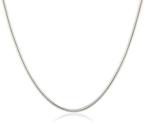 InCollections Damen-Schlangenkette 925 Sterling Silber 45 cm