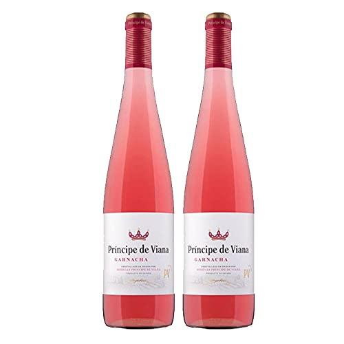 Vino Rosado Principe de Viana Garnacha de 75 cl - D.O. Navarra - Bodegas Principe de Viana (Pack de 2 botellas)