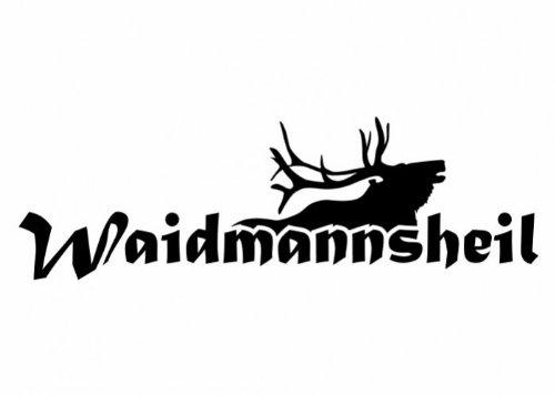 Wandtattooladen Wandtattoo - Waidmannsheil Größe:90x28cm Farbe: dunkelgrün