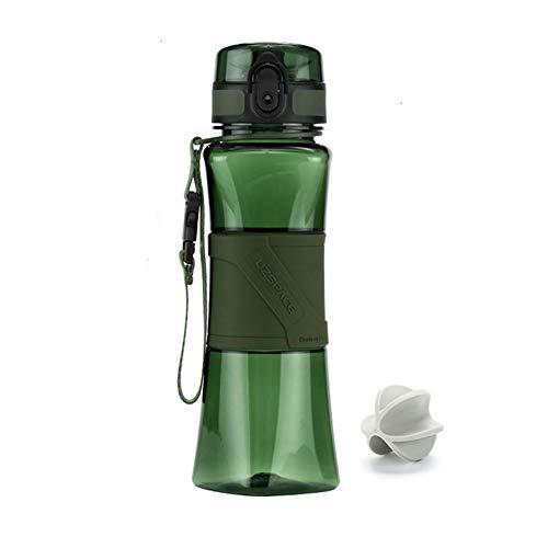 FMM Sports Bouteille Shake Bouteille créatif Protection de l'environnement étanche à l'eau Tritan BPA Gratuit Sports de Plein air Fitness école Camping randonnée Vert 500ml