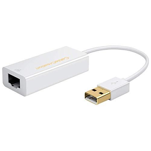 CableCreation Adaptador USB Chapado en Oro 10/100 Fast Ethernet LAN Red Cableada...