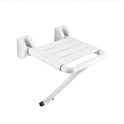 Best Prices! LXJY Shower Chair Comfortable Bathroom Flow Assist | White Wall-Mounted Folding Shower ...