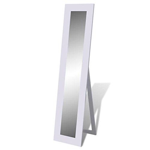vidaXL Specchio Autoportante a Figura Intera Rettangolare Bianco Specchiera