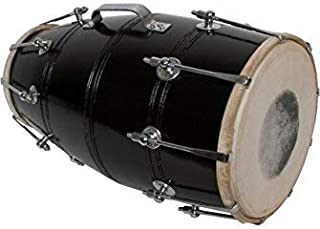 Bolt-tuned Mango Wood Dholki Musical Instrument Spanner Dholak Drum