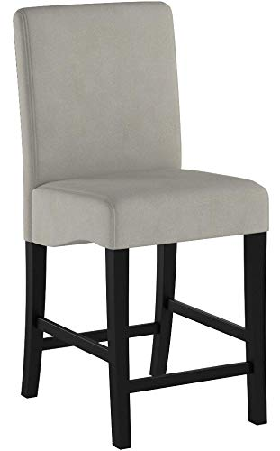 Coaster Home Furnishings CO- Counter Height Stool, Set of 2, Dark Grey and Black