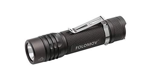 Preisvergleich Produktbild Folomov 18650S USB Rechargeable Flashlight 900 Lumen with Battery,  Nichia 219D LED,  Ultra Compact