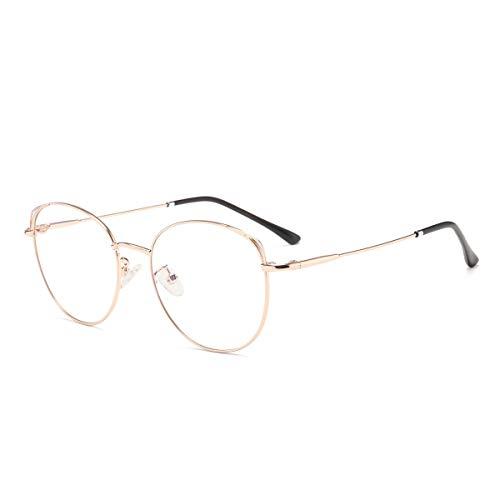 Blaulichtfilter Brille Anti Blaulicht Brille Computerbrille Katzenauge ohne sehstärke Metallgestell Brille Pc Gaming Bluelight Filter Uv Blockieren Blaue Licht Glasses Damen Gold