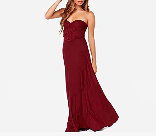 ShZyywrl Vestir Boho Maxi Club Dress Vestido Largo Rojo Party L Redwine