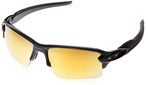 Oakley Men's OO9188 Flak 2.0 XL Rectangular Sunglasses, Polished Black/Prizm 24K Polarized, 59 mm