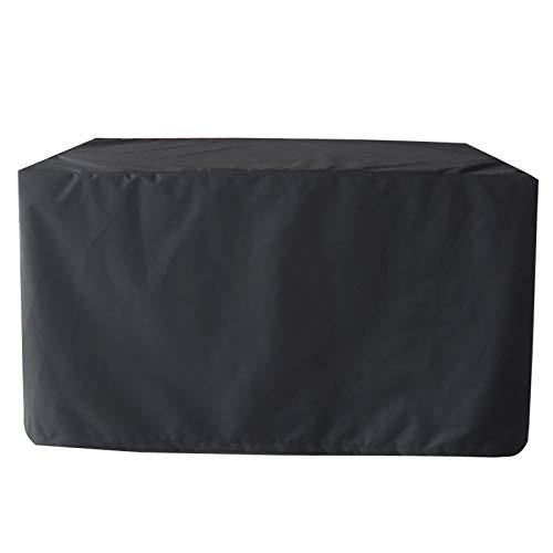 MEEYI Garden Furniture Cover 126x126x74cm, Square Waterproof, Snow, Dust, WindProof, Anti-UV Patio Furniture Cover, for Patio, Outdoor, Garden Furniture Protector. - Black