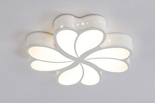 Home mall- 26W / 40W / 52W style moderne led lampe de plafond lampe personnalisée chambre créative enfants étude balcon lumière (Couleur : Lumière chaude-50 * 50cm)