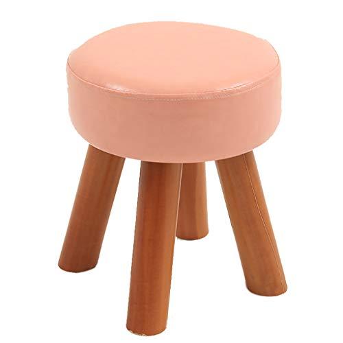 PLL Ronde Roze kleine massief hout kleine kruk Home Fashion woonkamer volwassenen kindersofa stoel schoen veranderen kruk salontafel bank