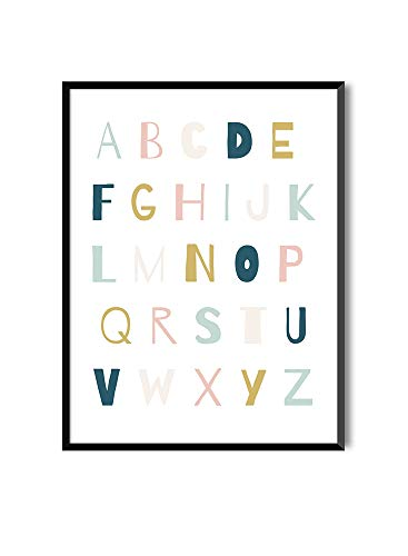 MILUKA Láminas Infantiles para enmarcar colección Mensajes Infantiles | ABC Anais | Tamaño 20x30cm, 30x40cm, 50x70cm (30 x 40 cm)