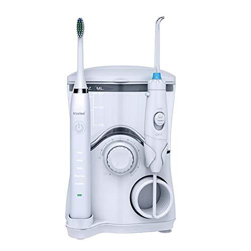 D&M Elektrische Kabellose Munddusche Oraler Irrigator Level 10 Druckregulierung,7 Düsen, 600ml Wassertank,wiederaufladbarer,A