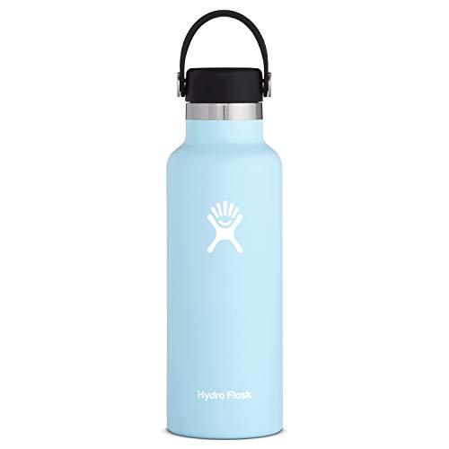 Hydro Flask Standard Mouth Water Bottle, Flex Cap - 24 oz, Frost