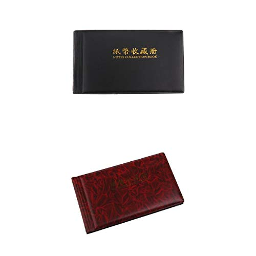 D DOLITY 2Pcs Banknote Currency Collection Album Paper Money Coin Storage 30Note Page