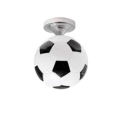 Renquen Moderna lámpara de techo minimalista de cristal de montaje empotrado luz de techo forma de fútbol lámpara lámpara lámpara lámpara sombra para pasillo (negro)