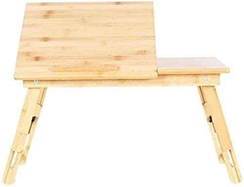 OYY Manufacture Reposapiés Tablas, Soporte portátil de bambú Soporte Plegable Altura Ajustable Lap portátil Bandeja de Cama