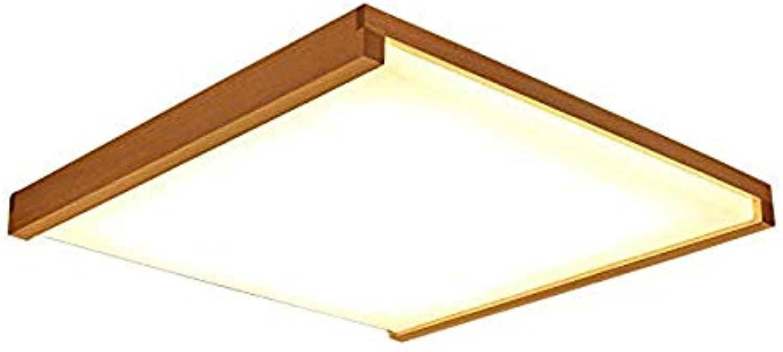 LCTCXD Moderne led japanische deckenleuchte led massivholz licht Tatami Lampe Beleuchtung Wohnzimmer Schlafzimmer Balkon Holz licht (Farbe   Three-Farbe Light, gre   Diameter 37CM)