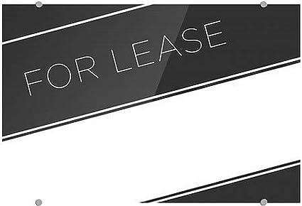 for Lease Basic Black Premium Brushed Aluminum Sign CGSignLab 27x18