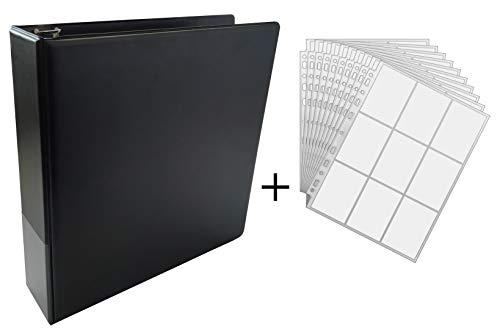YGO 100 9-Pocket Premium Pages -Feuilles docsmagic.de 3-Ring Album Black Classeur pour Jeu de Cartes PKM Noir MTG