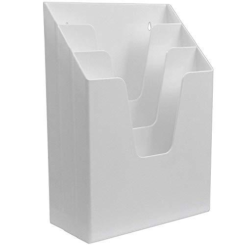 Acrimet Vertical Triple File Folder Organizer (White Color)