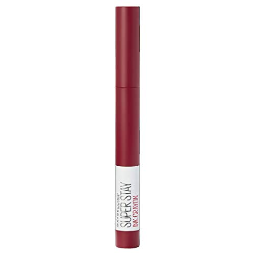Maybelline Lipstick, Superstay Matte Ink Crayon Longlasting Dark Red Lipstick with Precision Applicator 50 Own Your Empire