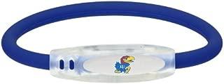 NCAA Kansas Jayhawks Active Wristband, Blue, Small