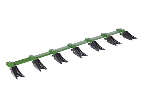 Heavy Hitch Green 53 Inch Bucket Tooth Bar for Sub-Compact Tractor. Fits Bucket Cutting Edges Sized 1/2' or Less with No Drilling Required   Heavy Duty Design Made in USA