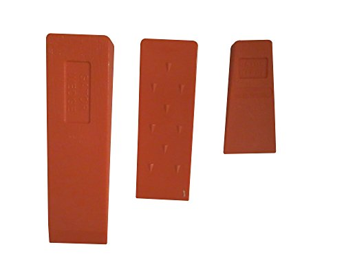 Gator Wedge USA Made Set Spiked Felling Wedges (Set of 3 Sizes) 5.5' 8' and 10', ABS Plastic, Logging Supplies