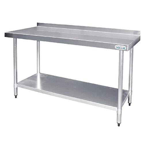 Vogue T382 Table en acier inoxydable