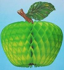 Wabendeko Grüner Apfel 3D Papierfrucht (20) Papier Frücht